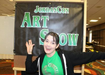 April and the Art Show