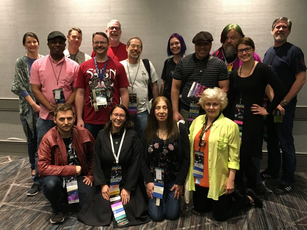 JordanCon 2019 Anthology Authors and Editors at their group signing.
