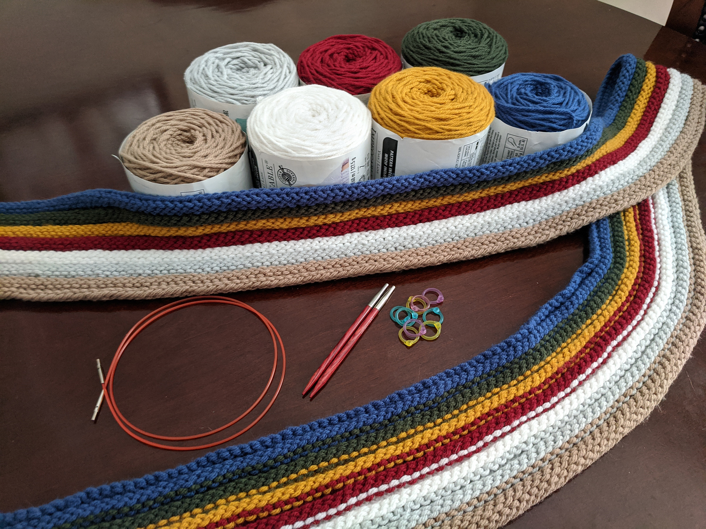 Scarf and supplies